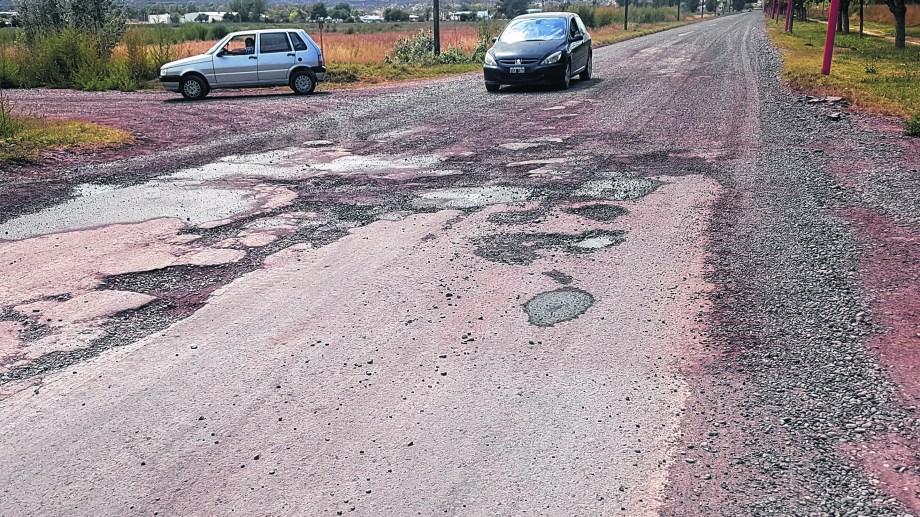 La avenida Del Comahue era una de las calles a repavimentar.