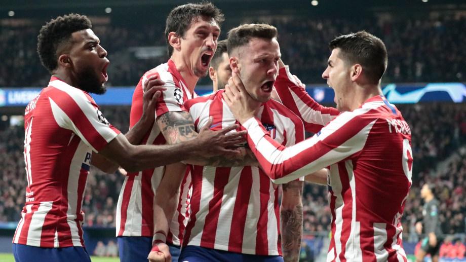 A los 3 minutos, Saúl marcó el único gol de la noche en Madrid. (Foto: AP)