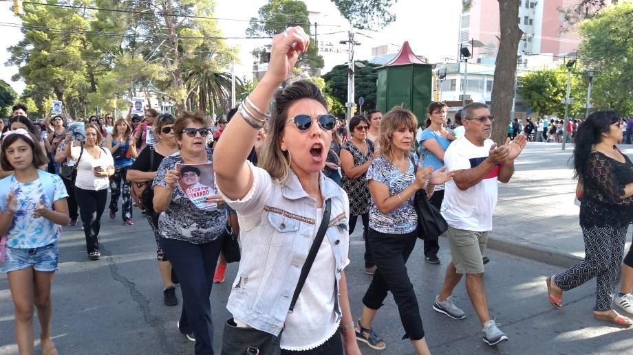 La marcha en Neuquén. Foto: Gentileza