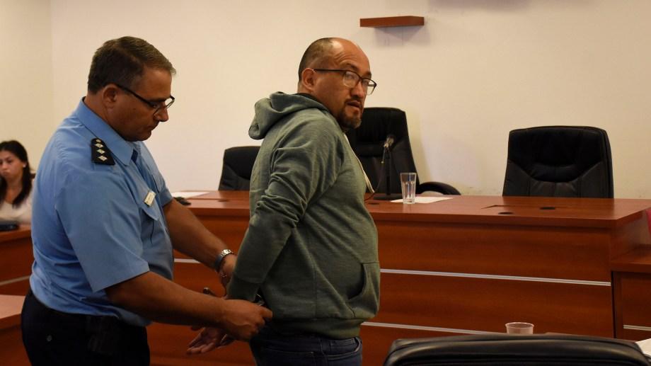 Ármando López, el hombre acusado de instigar a la usurpación en Neuquén. (Florencia Salto)