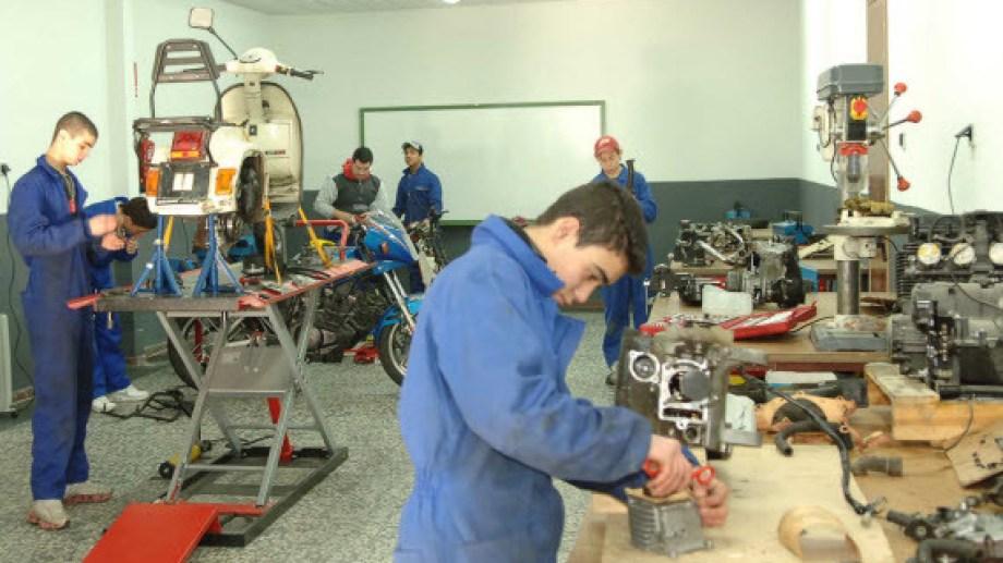 La sede del excorpofrut cuenta con dos aulas taller. Foto: archivo.