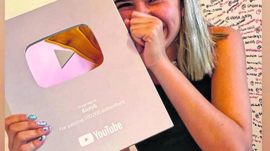 Con solo 14 años, Lola ya cuenta con 165.000 suscriptores en su canal de You Tube. Foto: gentileza