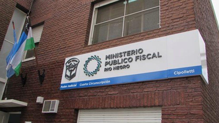 Oficinas del Ministerio Público Fiscal en Cipolletti. Foto: archivo.