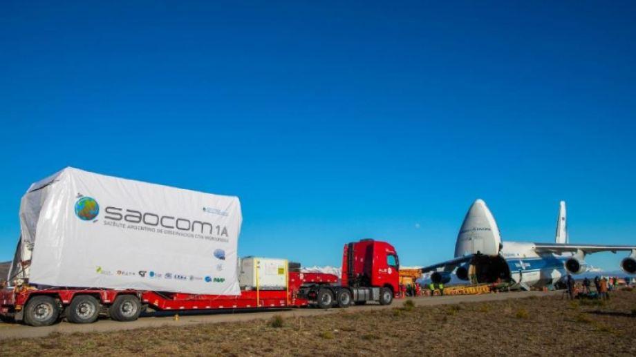 El satélite Saocom 1B partirá en la madrugada del sábado hacia Cabo Cañaveral. En la foto, el Saocom 1A.