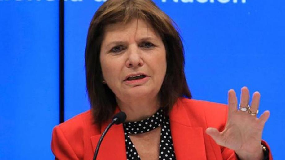 La ex Ministra de Seguridad, Patricia Bullrich. Foto archivo.