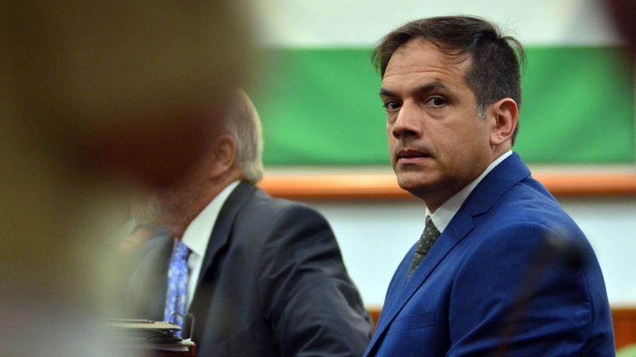 El medico Leandro Rodríguez Lastra en la audiencia de revisión de la condena. Foto: Marcelo Ochoa.-