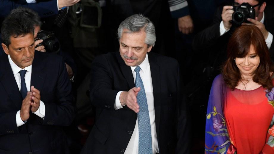 Alberto Fernández ante la Asamblea Legislativa. Foto Télam.