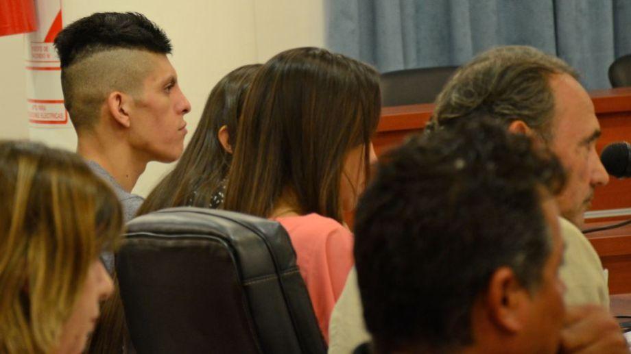 Alfredo Escobar, único detenido por el femicidio de Cielo López, durante la audiencia de control de acusación. (Mauro Pérez)