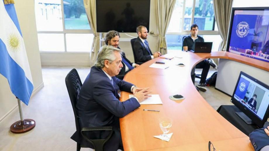 El presidente Alberto Fernández propuso crear un fondo humanitario mundial de emergencia ante el coronavirus. Foto Télam.