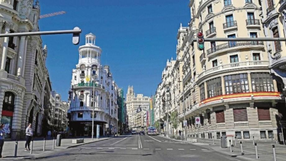 Madrid, una de las grandes capitales que ahora es ciudad fantasma.
