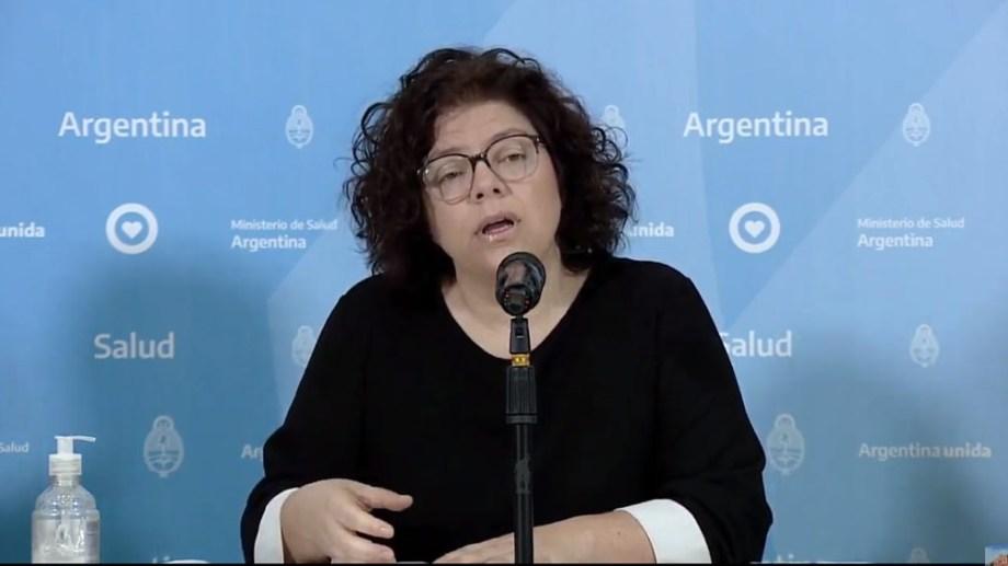 Carla Vizzotti, secretaria de acceso a la Salud.