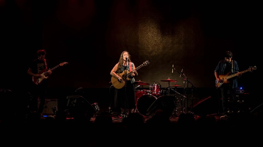 Macarena Montovi, junto   a Rafo Grin y Marcos Archetti. (Foto: gentileza Tyncho Menard).