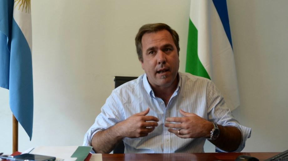 El intendente Bruno Pogliano fue agredido ayer por la tarde en Cuesta del Ternero. Foto: archivo