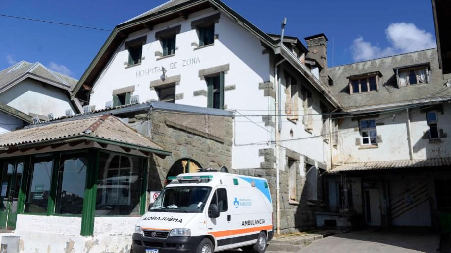 Un sector del viejo edificio del hospital Ramón Carrillo quedó afectado por la avería en la red de gas. Foto: Alfredo Leiva