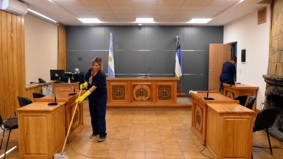 Las audiencias orales y públicas en los tribunales de Bariloche están suspendidas, solo hay guardias. Foto: Alfredo Leiva