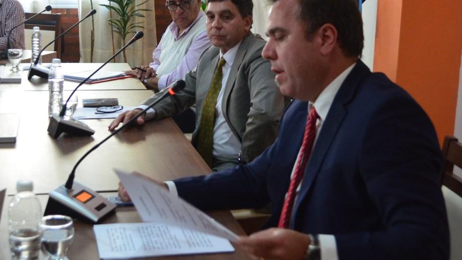 El intendente Bruno Pogliano emitió su discurso en la apertura de sesiones ordinarias 2020 de El Bolsón. Gentileza