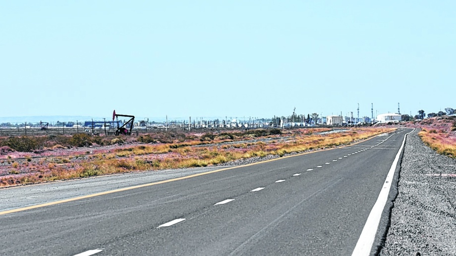 Desierto. La ruta petrolera de Vaca Muerta cambió radicalmente en los últimos días y evidencia la parálisis del sector. (Foto: Florencia Salto)