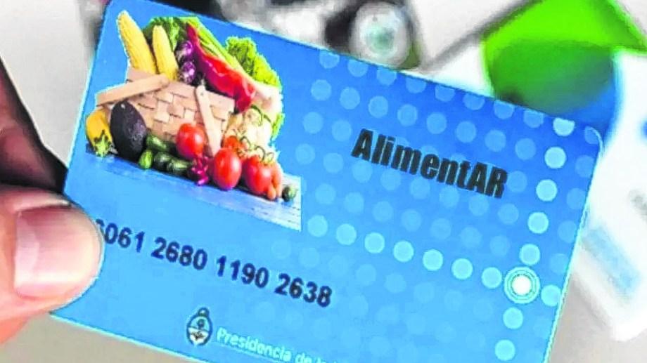 La tarjeta se utiliza exclusivamente para comprar alimentos.