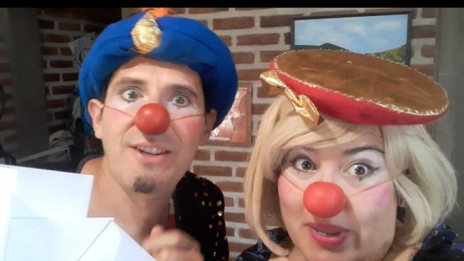 Una postal de uno de los videos que Los Entretenedores ofrecen para esta cuarentena. (Foto: Gentileza)
