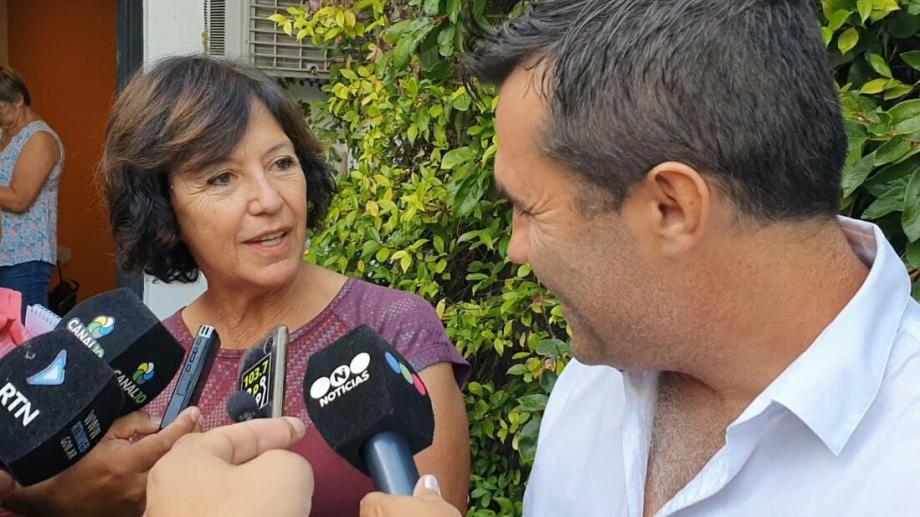Silvia Sapag y Darío Martínez presentaron proyectos en el Congreso y, en forma previa, los mostraron en sociedad. Foto Prensa Frente de Todos