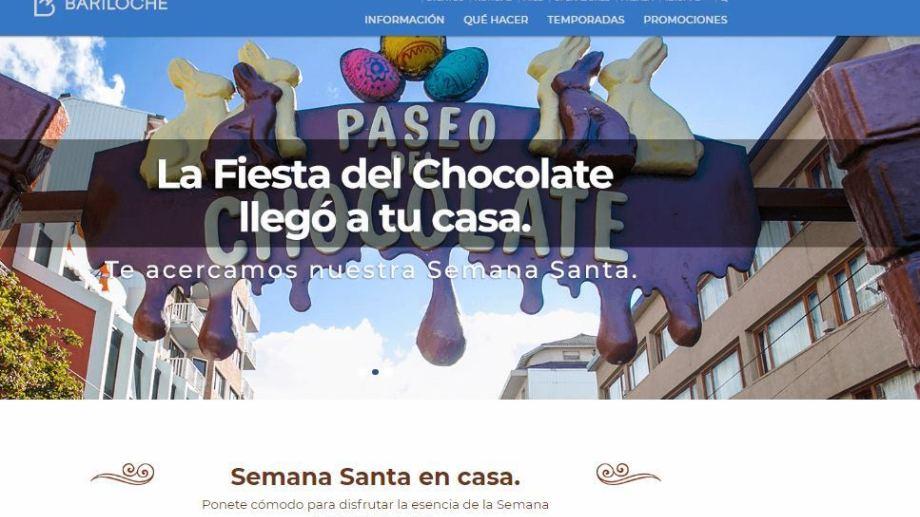 """Bariloche presentó su """"landing page"""" que ofrece un abanico de opciones para disfrutar de la ciudad desde casa."""