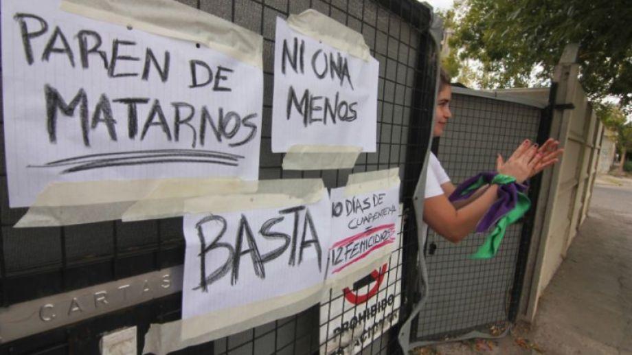 Reclamo por políticas contra los femicidios. Foto ilustrativa. Archivo Oscar Livera.-