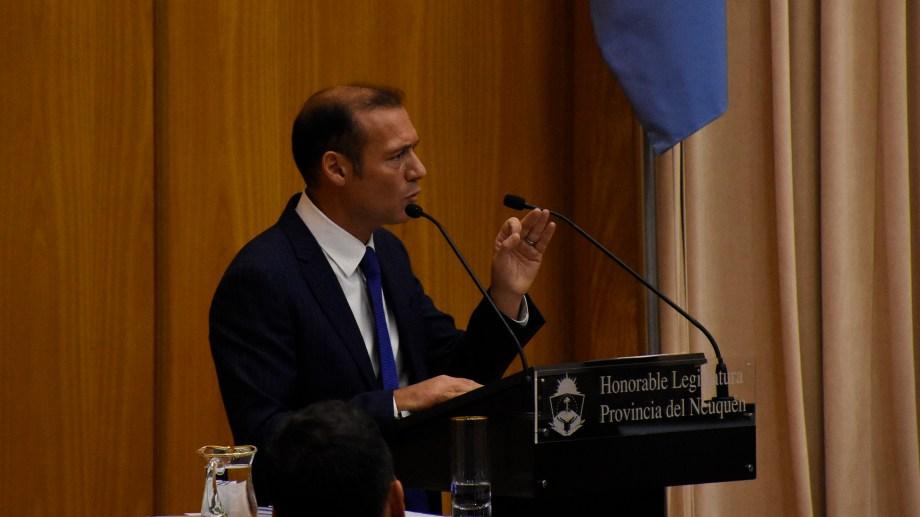 El gobernador neuquino abrió las sesiones una hora antes que el presidente Alberto Fernández. Foto: Florencia Salto.