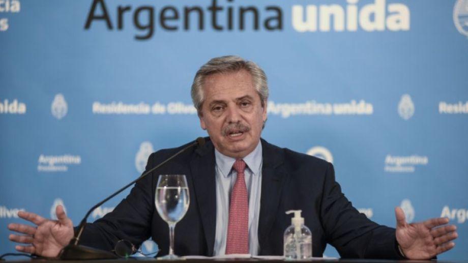 El presidente Alberto Fernández decidió extender el aislamiento social, preventivo y obligatorio. Foto Télam.