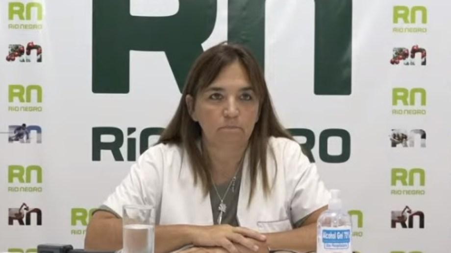 Mercedes Iberó, secretaria del ministerio de Salud. Foto: captura de pantalla.-