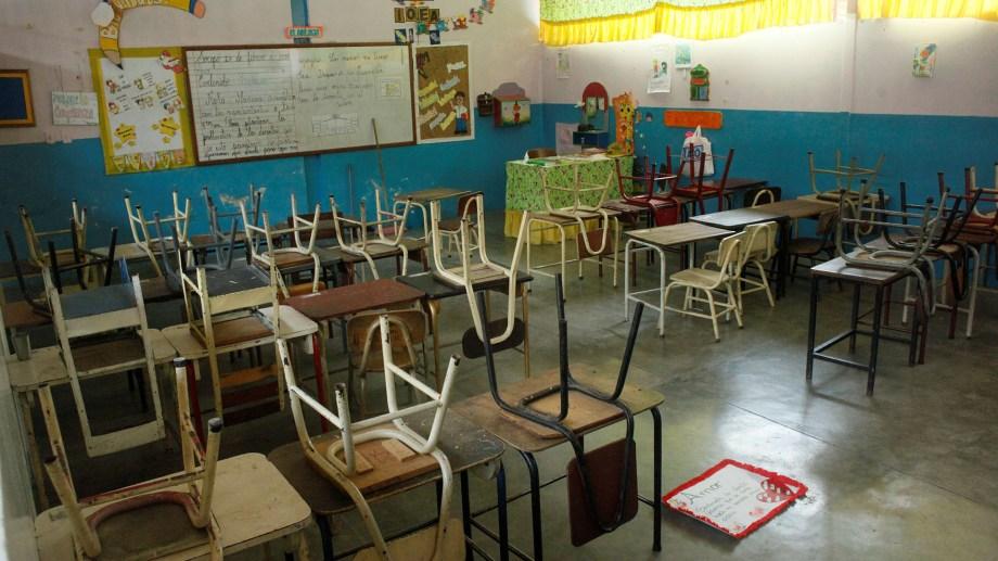 Una escuela en las afueras de Caracas, antes de la pandemia.