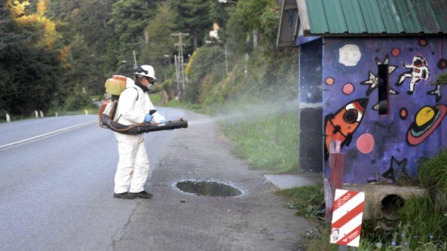 Las garitas de colectivos se desinfectan con compuestos de amonio cuaternario. Foto: archivo