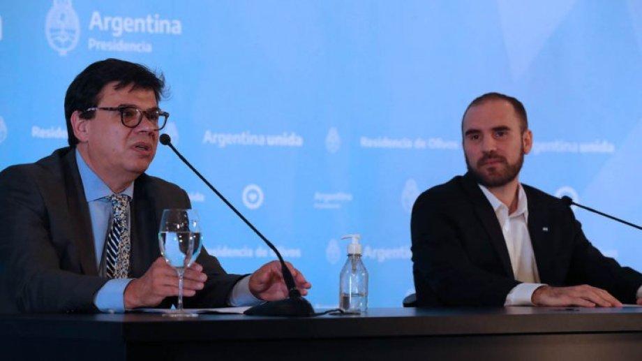 Moroni y Guzmán hicieron el anuncio en los últimos días, para llegar a los sectores vulnerables. Foto: presidencia de la Nación.-