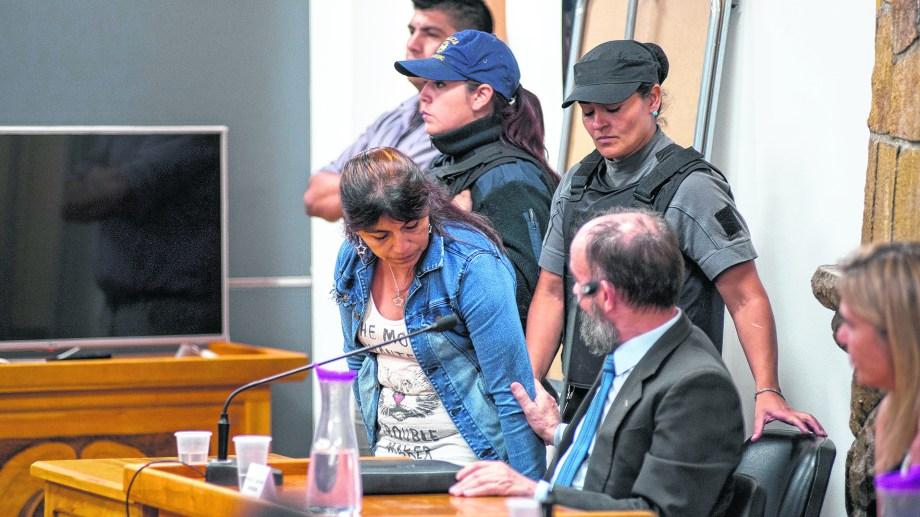 La acusada en una de las audiencias de la semana pasada. Foto: archivo