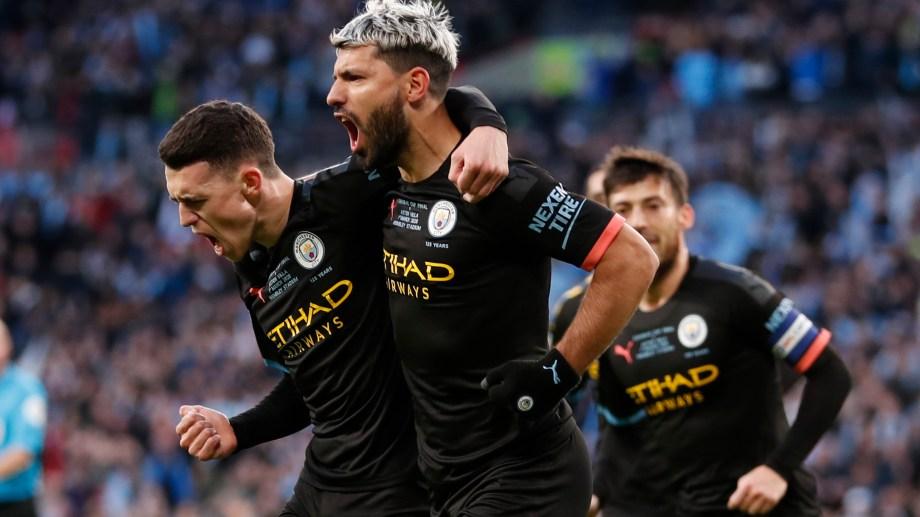 El Kun abrió el marcador en el triunfo ante Aston Villa. (Foto: AP)