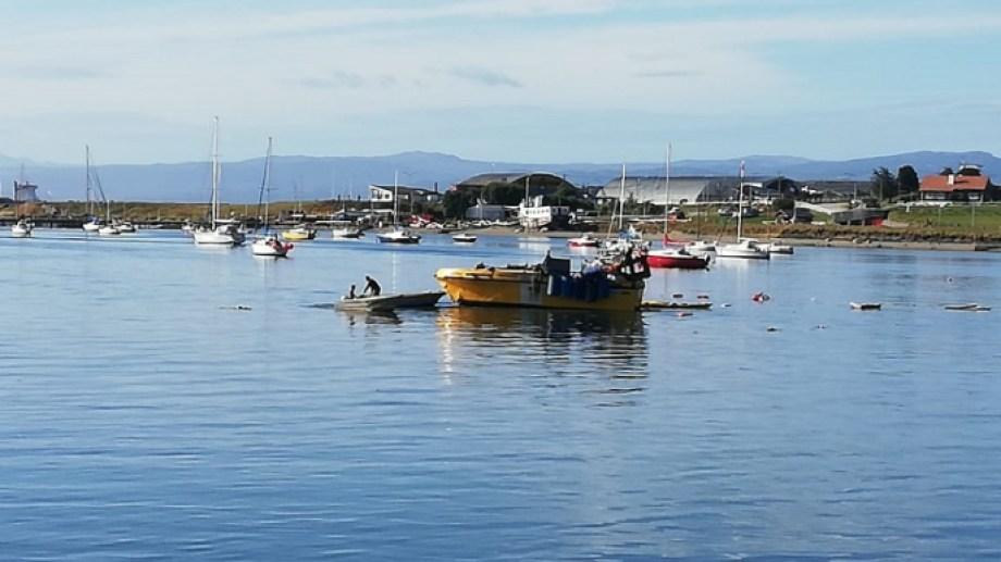Así quedó la embarcación. Foto: gentileza Ushuaia24.-