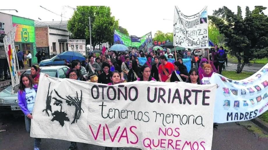 El recuerdo vivo.  Cada año se realiza una marcha para exigir justicia por la joven orense.