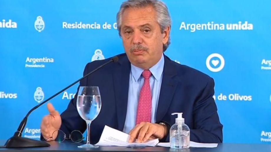 Fernández habló a última hora de este domingo, desde la residencia de Olivos. Foto: captura de pantalla.-