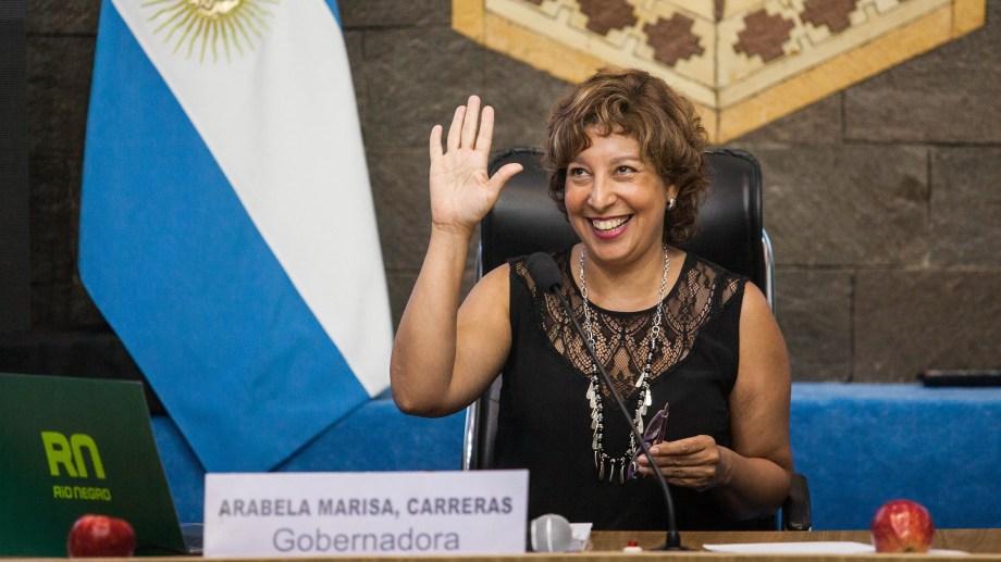 Para la gobernadora Carreras será su segunda apertura de sesiones de su mandato. Foto Marcelo Ochoa