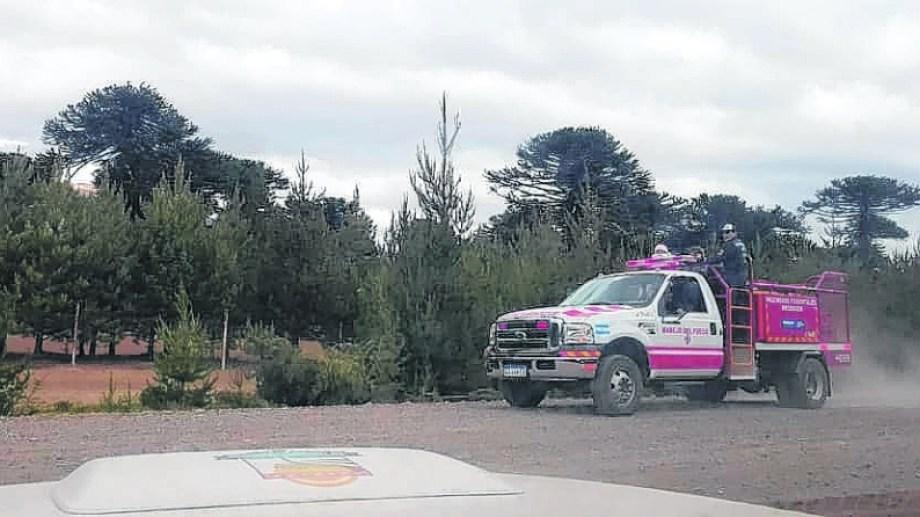 """Los bomberos de Villa Pehuenia reclaman que las rutas están en estado de """"abandono"""".  Foto: Archivo"""