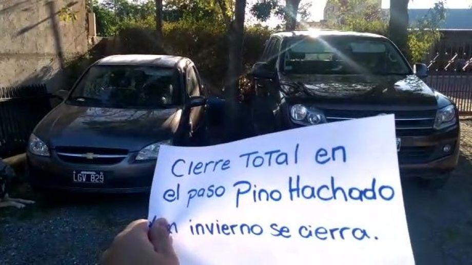 En Las lajas piden el cierre del paso fronterizo. Foto: Captura de video.