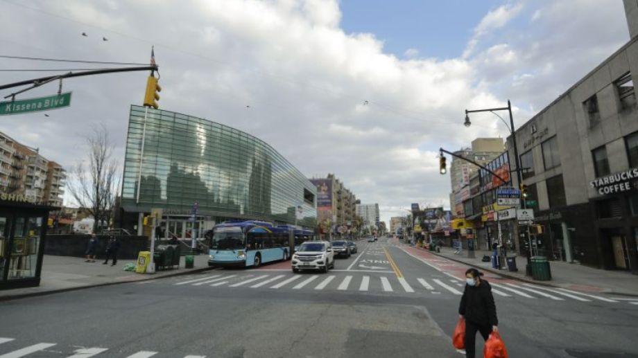Desolación total en las calles de Nueva York, la ciudad estadounidense más afectada por la pandemia. (Foto/AP)