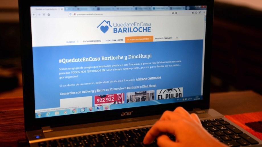 En Bariloche una web reúne a los comercios que ofrecen envío a domicilio, una de las alternativas para comprar en cuarentena. Foto: Alfredo Leiva