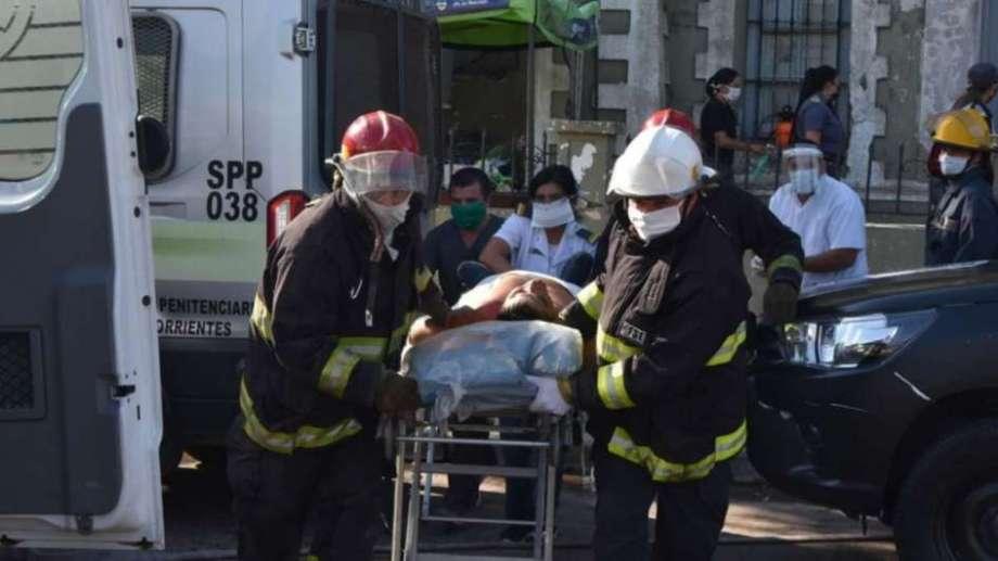 Desde el hospital Vidal informaron que ingresaron cuatro internos, tres con heridas de proyectiles. Foto: gentileza El Litoral.-