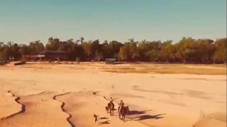 El cruce a caballo en la zona de Paraná Viejo, Entre Ríos. Captura de video