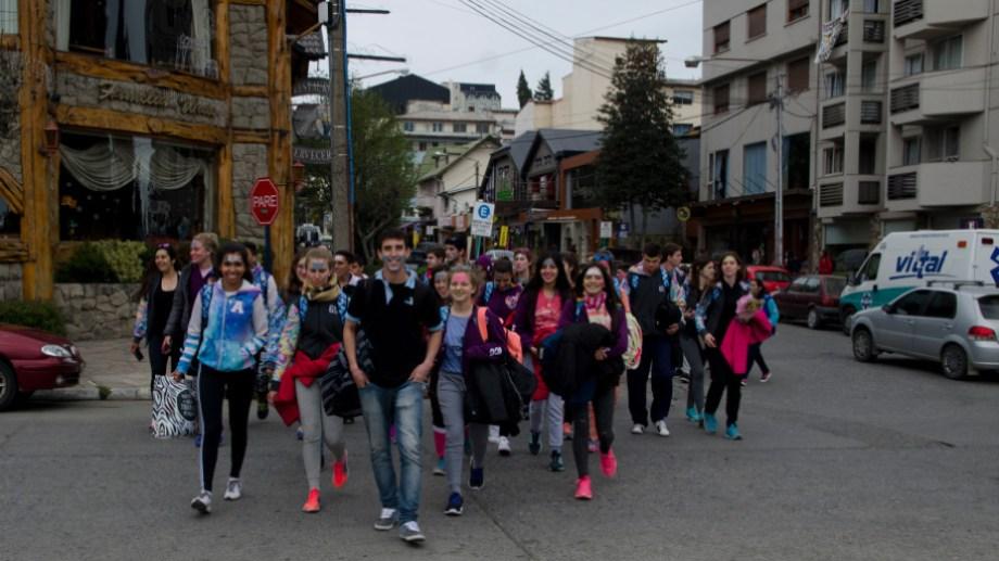 Unas 4.500 familias dependen de la actividad que genera el turismo estudiantil en Bariloche, según Ateba. (Foto archivo)