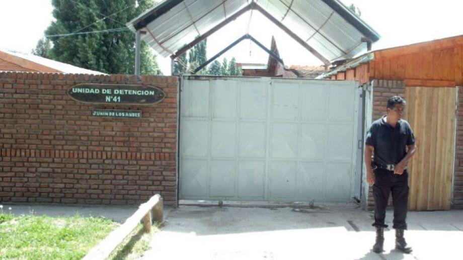 Unidad de Detención 41 de Junín de los Andes, donde estaba alojado el hombre condenado. (Archivo)