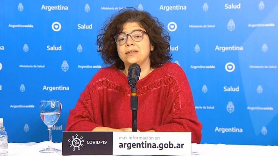 Carla Vizzotti, secretaria de Acceso a la Salud. Foto Télam.