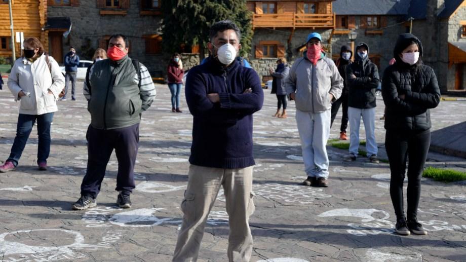Los trabajadores confluyeron en el Centro Cívico. Foto: Alfredo Leiva