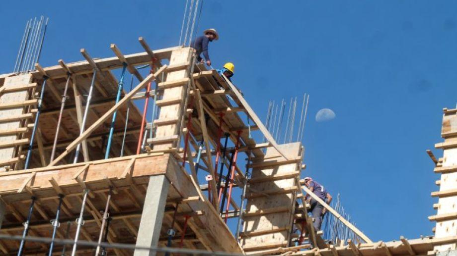 la mayoría de las obras de edificios volvieron a su actividad. Foto: archivo