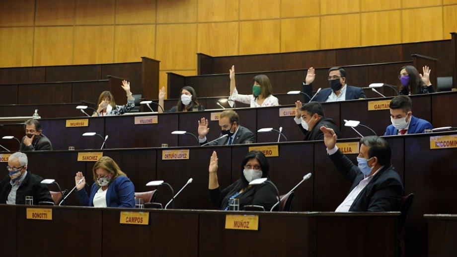 Los diputados sesionaron el 29 de abril de forma presencial. Foto: gentileza.